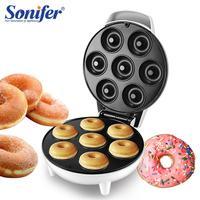 750W DIY Donut Maker Doughnut Machine Party Dessert Bakeware Electric Baking Pan Non stick Double sided Heating 220V Sonifer
