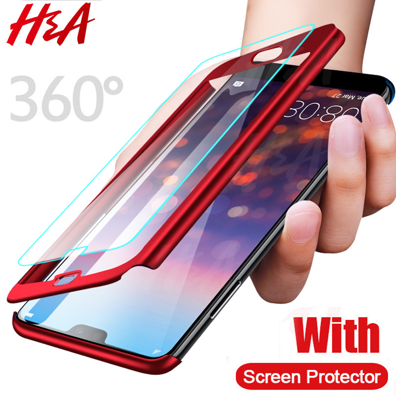 H&A 360 Full Cover Phone Case For Huawei P30 P20 Lite Pro P10 P9 P8 Lite Shockproof Cover Mate 20 Lite Pro Fundas Capa-in Fitted Cases from Cellphones & Telecommunications