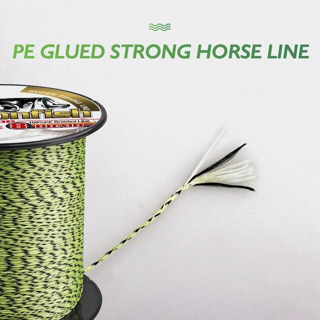 Качественные Рыболовные снасти, онлайн плетеная рыболовная леска, 8 нитей, 500 м, 1000 м, полиэтиленовый шнур для подледной рыбалки, 8 300 фунтов