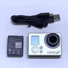 Battery Camera Gopro Adventure HERO3 for Silver-Edition Charging-Data-Cable 99%New 99%New