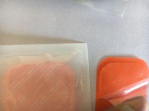 Image 5 - 1200 stücke (200 sets) ersatz leitfähigen Ausbildung gel pad blatt Sechs pads abs Gel Kompatibel mehr Bauch Muskeln gürtel