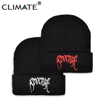CLIMATE Xxx Revenge Beanie Men's Winter Hat Black Beanies Cap Warm Knit Hip Hop Caps for Men - discount item  40% OFF Hats & Caps