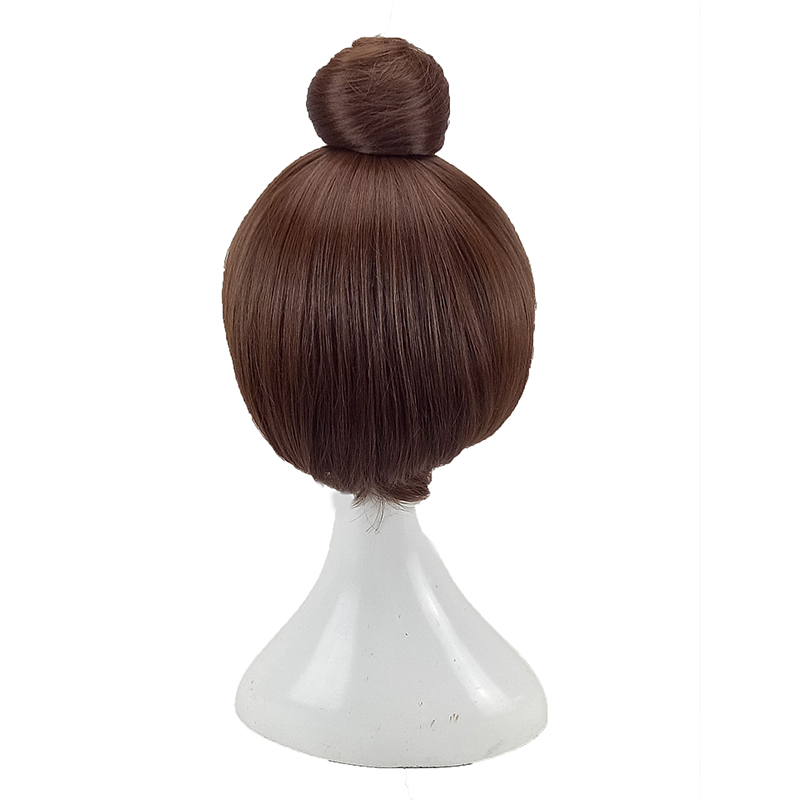HAIRJOY  Synthetic Hair Tinker Bell Cosplay Wig with Detachable Bun Blonde Brown  Heat Resistant Costume Wigs 6