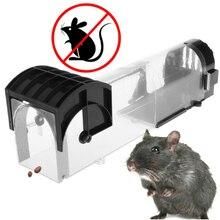 цена на Safety Transparent Mouse Catcher Plastic Reusable Mousetrap Outdoor Indoor Garden Mice Catcher Household Plastic Rat Trap