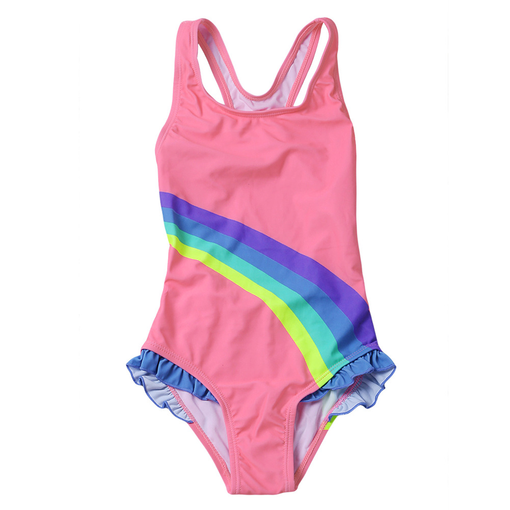 Hot Springs Swimwear GIRL'S Quick-Dry Printed Sleeveless Europe And America New Style One-piece Swimsuit For Children TZ410026