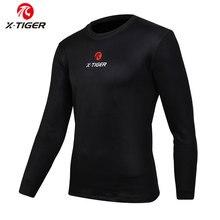 X-TIGER Winter Cycling Base Layer Long Sleeve Warm Bike Underwear Fleece Sports Bike Shirt Keep Warm Racing Bicycle Shirt