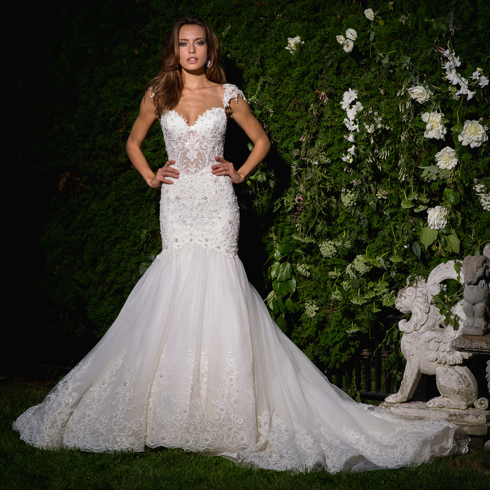 Beaded Crystal Appliques White Sexy Mermaid Wedding Gowns Aliexpress Login Backless See Through Illusion Elegant Dress China