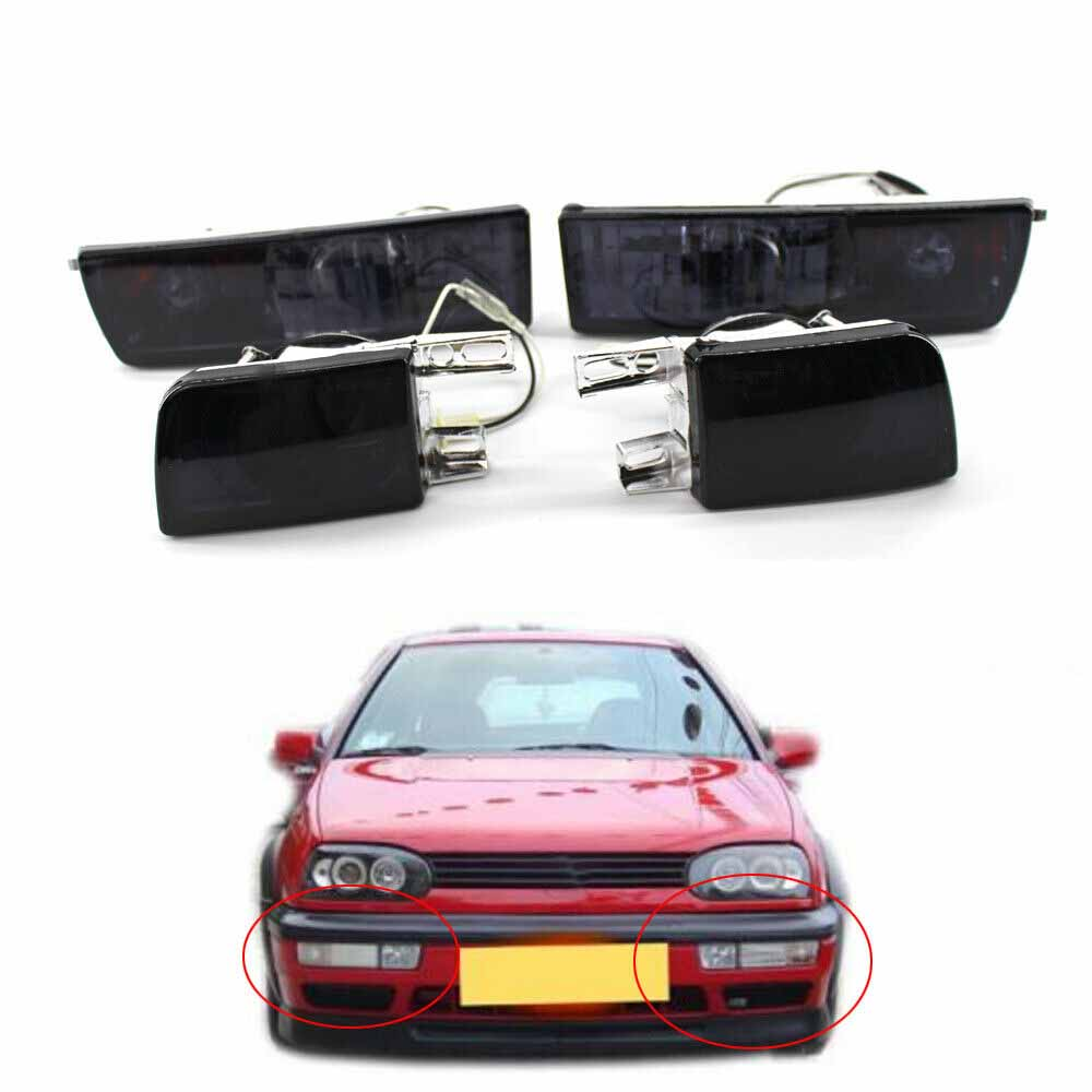 Front Bumper Fog Lamp Turn Signal Lights Corner Light Fit For VW Jetta Golf MK3 Vento 93-98 Sedan 4DR