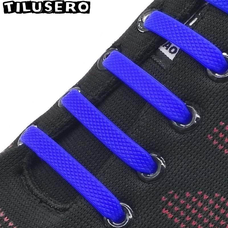 16pcs Elastic Silicone Shoelaces For Shoes Creative Shoelace No Tie Shoe Laces For Men Women Lacing Shoes Rubber Shoelace Z002