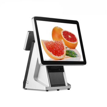 15inch touch screen and VFD 58mm printer pos system point of sales