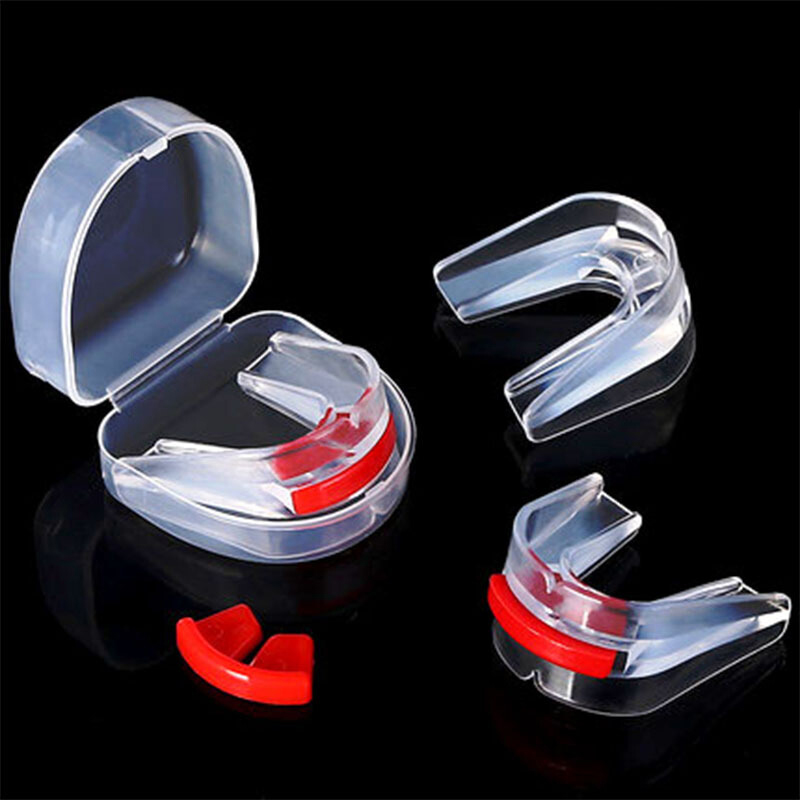 New Double Mouthguard Shock Sports Boxing Mouthpiece Guard Bucal Teeth Protector For Boxing Basketball Top Grade Shield