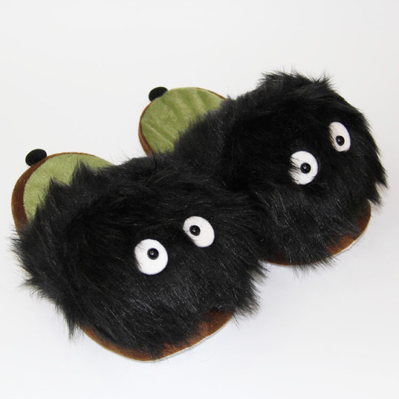 28cm New Cartoon My Neighbor Totoro Fairydust Plush Slipper Winter Indoor Slippers For Adult Free Shipping image