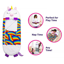 ZK30 Dropshipping Sleeping-Bag Blanket Kids Cartoon Toy Pillow Super Soft and Warm Baby Comfort Blanket Cartoon Animal Toy