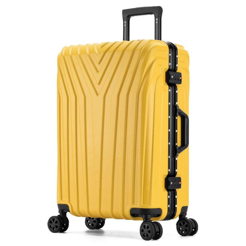 ins Hot Sale Aluminum Frame Luggage Personality Rolling Luggage Large Capacity Suitcase Fashion Password Box Spinner