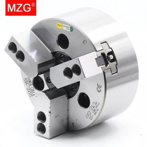 Image 3 - Mzg SB 210 6 8 10 polegada 3 mandíbula oco power chuck para torno cnc ferramenta de corte chato titular buraco usinagem