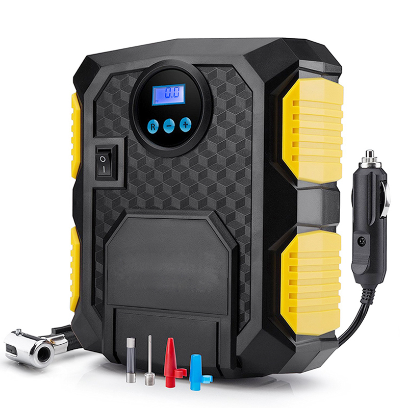 Tire Inflator Air-Compressor-Pump Bicycles Digital 12-Volt Portable 150-Psi New Car DC title=