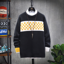 Winter Sweater Men Warm Fashion Solid Color Casual O-neck Sweater Pullover Men Streetwear Loose Long-sleeved Sweter Male Clothes