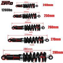 TDPRO evrensel 240/250/260/270/290mm motosiklet amortisörü süspansiyon koruma arka şok emiciler 1200LBS kir bisiklet