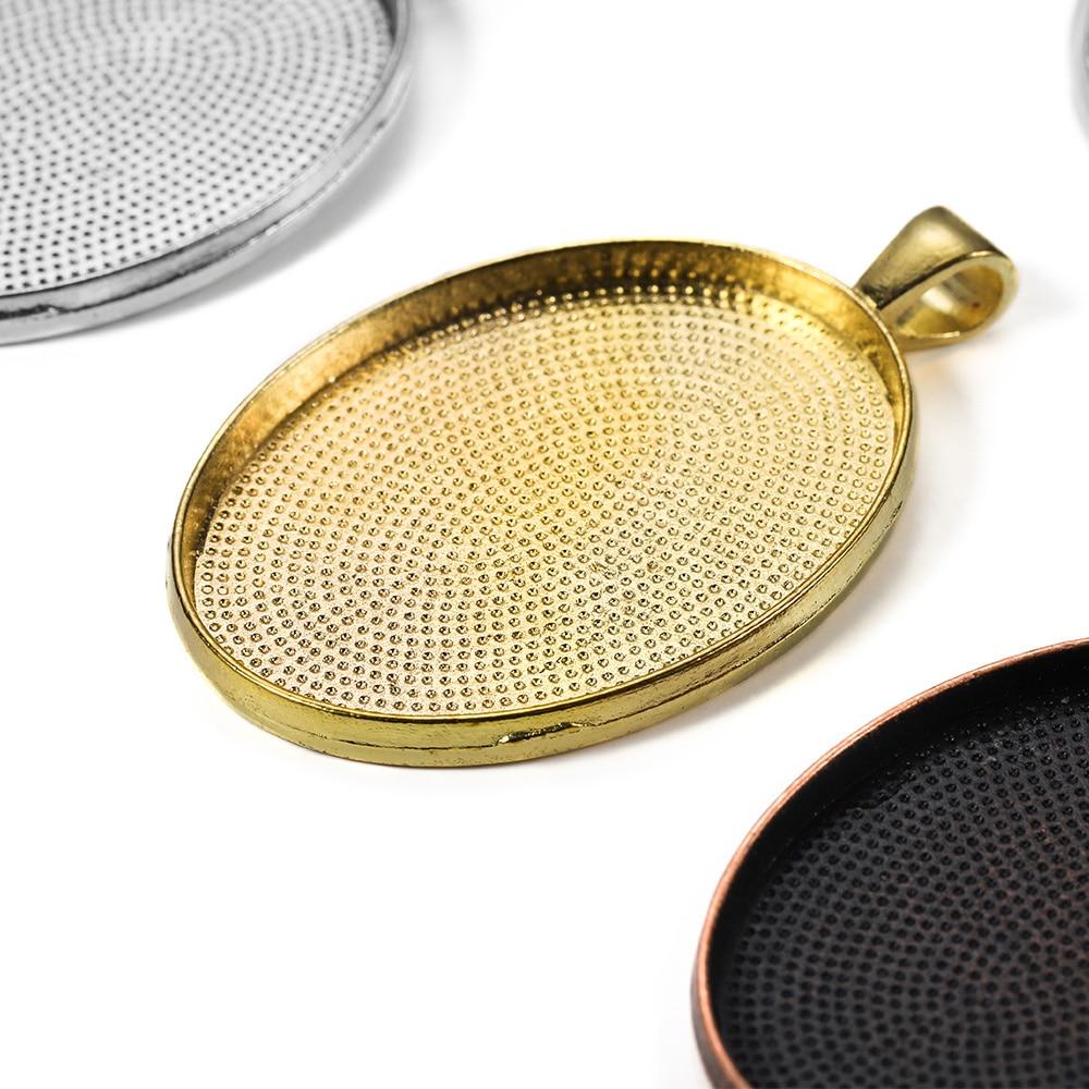 5шт 30х40мм Овальный кабошон база установка лотков для ожерелье DIY ювелирных изделий ручной работы аксессуары Оптовая продажа