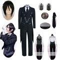 Костюм черного двойного Батлера из 9 предметов, костюм для косплея Kuroshitsuji Себастьян михаелис унисекс, униформа на Хэллоуин для мужчин и женщ...