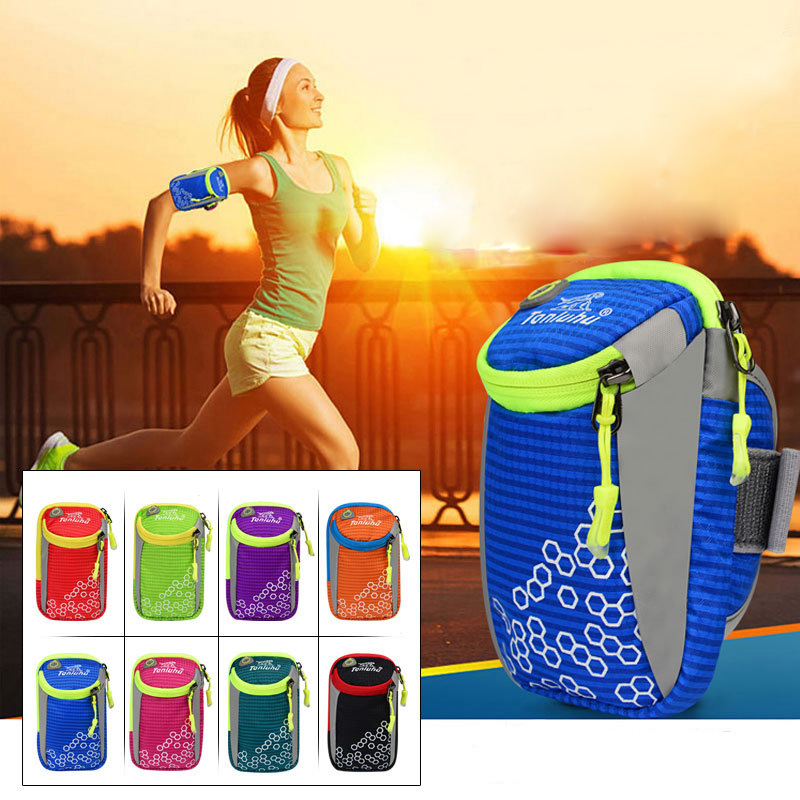 6in Outdoor Sport Running Arm Bag Wrist Pouch Exercise Jogging GYM Adjustable Waterproof Phone Arm Bag For IPhone 6s Plus