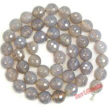 Fctory preço 12mm 14mm, rodada, cinza, agat, miçangas de pedra natural, miçangas soltas diy, para fabricação de jóias jd538