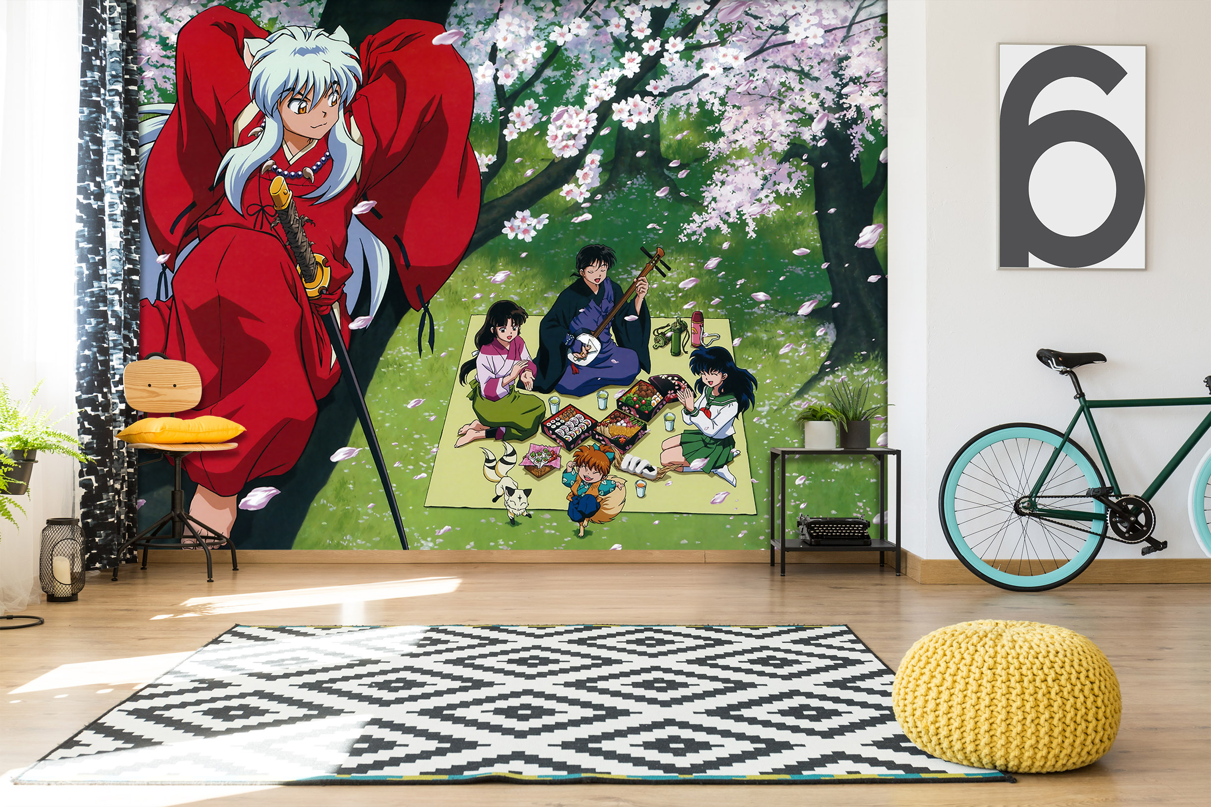 Details about  /3D Inuyasha B163 Japan Anime Wall Stickers Wall Murals Wallpaper Zoe