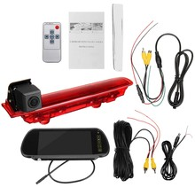 Car Hd Rear View Camera Spare Camera Brake Light Mounting Monitor for Transporter T5 & T6(China)