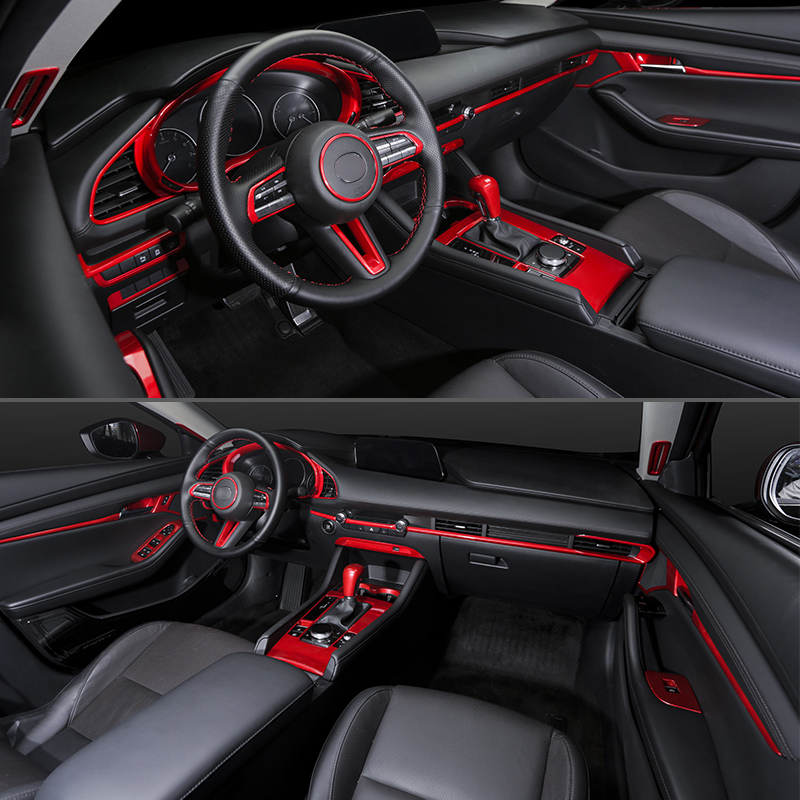 For Mazda 3 Axela CX30 CX 30 2019 2020 Interior Accessories Door Dashboard Console Air Oulet Trim Sticker Cup Holder Frame