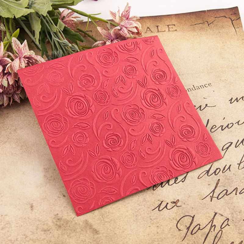 Plastic Embossing Folder Rose Flower Scrapbooking Photo Album Card DIY Plastic Template Embossing Mold