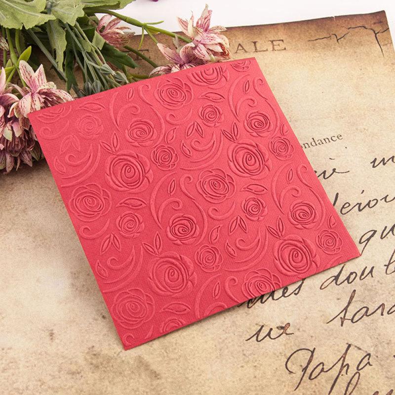 Plastic Embossing Folder Rose Flower Scrapbooking Photo Album Card DIY Plastic Template Embossing Mold