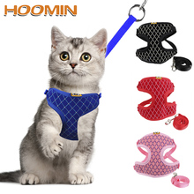 Pet-Products Cat-Vest-Collars Leash-Set Leads Dog Cat Rhinestone Small for Mesh S/M HOOMIN
