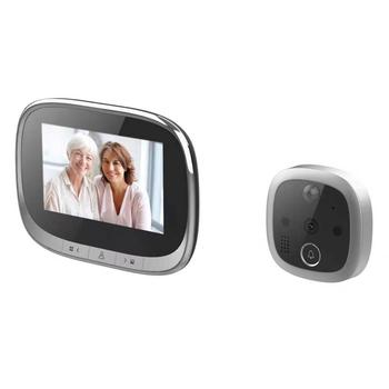 "4.3"" inch LCD Door Digital Peephole Viewer IR Night Vision Camera Doorbell Video Record"