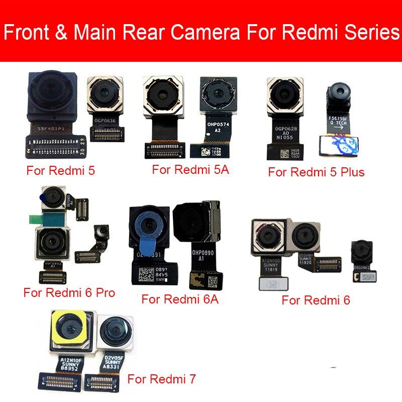 Front & Rear Main Camera Flex Cable For Xiaomi Redmi 5 5A 6 6A 7 Pro Plus Back Big Samll Facing Camera Replacement Repair