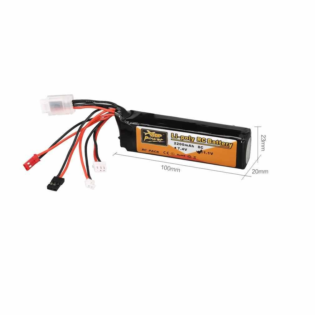 ZOP Power 11.1 فولت 2200mAh 8C 3S 3S1P Lipo بطارية JST JR Futaba التوصيل قابلة للشحن ل RC مروحية لعبة بدون طيار كوادكوبتر الارسال