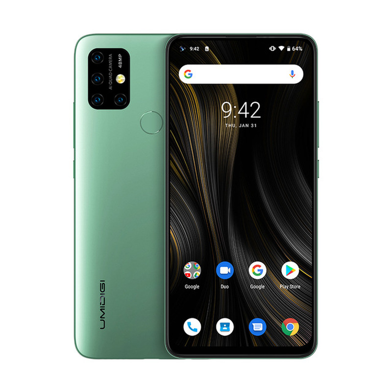 "UMIDIGI Power 3 Smartphone 48MP Quad AI Camera 4GB RAM 64GB ROM 6.53"" Helio P60 NFC Octa Core Android 10.0 6150mAh Mobile Phone"