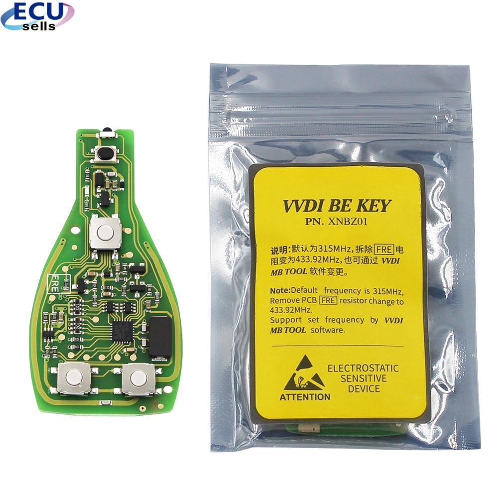 Пульт дистанционного управления XHORSE VVDI BE Key Pro для Benz V1.5 PCB, улучшенная версия Смарт-ключей с логотипом, можно обменять МБ BGA с логотипом