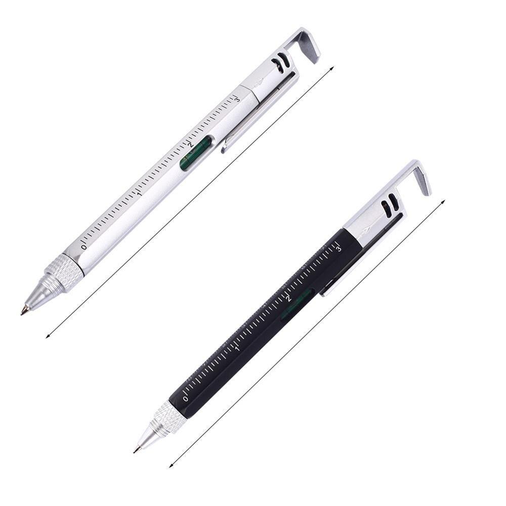 1/2/4 шт. в партии, 6 в 1 многофункциональная отвертка линейка-уровень Пластик инструмент ручка для телефона прибор для измерения уровня Сенсорный экран ручка - Цвет: 2pcs
