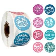 500 шт/рулон 8 стилей Наклейка «спасибо» для этикетки печати