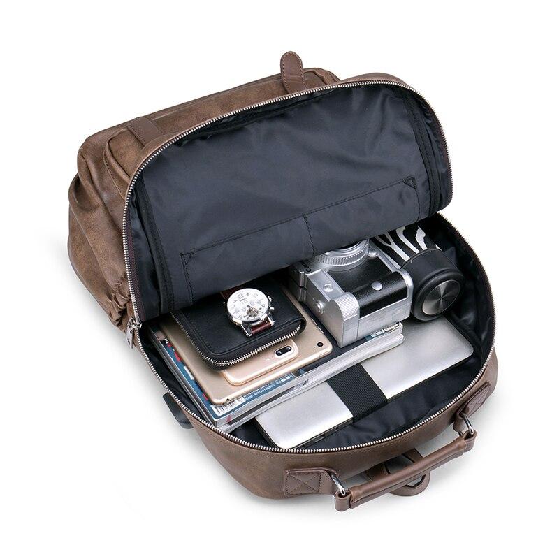 BOPAI, деловой мужской рюкзак, черный, с USB зарядкой, Противоугонный, рюкзак для ноутбука, 15,6 дюймов, мужской, большой емкости, школьные сумки дл... - 6