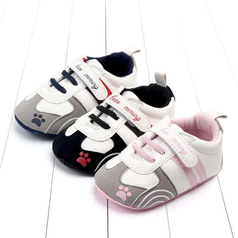 Cute Personality Paw Soft Bottom Non-slip Toddler Shoes Pie Walhei Boys Girls Crib Prewalker Soft Anti-slip Sneakers Shoes