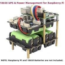 פטל Pi 4 דגם B UPS כובע שילדס, x750 כוח ניהול הרחבת לוח עבור פטל Pi 4B/3B +/3B/2B/+/B