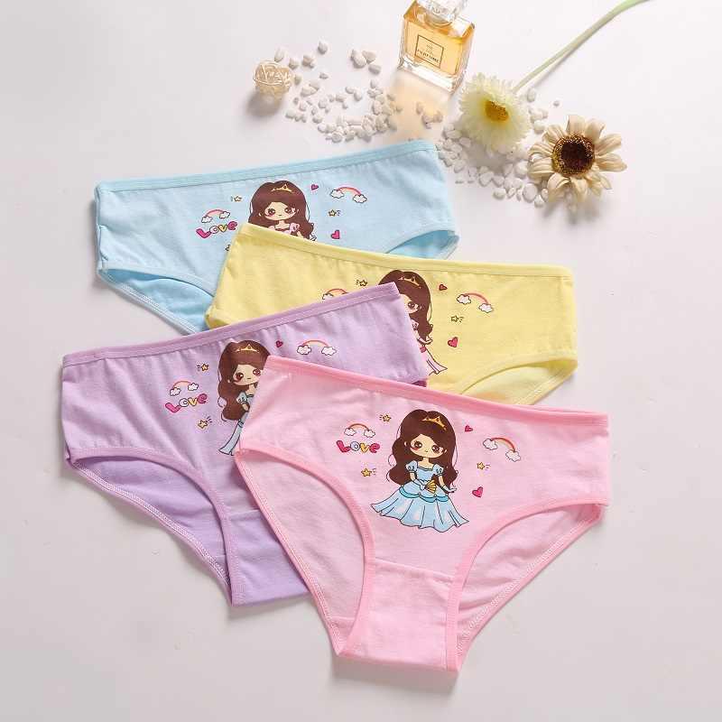 4 Pcs/Lot Girls Briefs Soft Cotton Children Panties Lovely Cute Cartoon  Baby girls Underwear Breathable Girl Panties For 2 12Y|Panties| - AliExpress