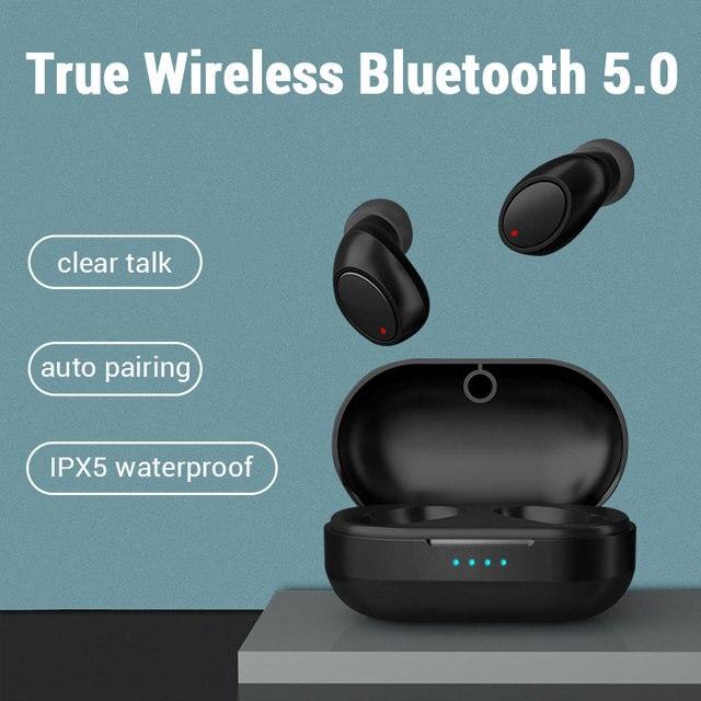 Kablosuz kulaklıklar Bluetooth kulaklık IPX5 su geçirmez spor kulaklık Handsfree kulaklık Xiaomi Huawei için p30 pro onur 20 9x