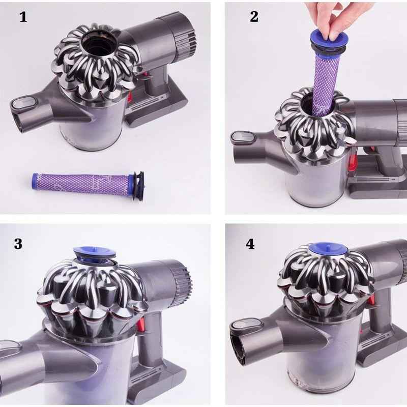 как промыть фильтр dyson v6