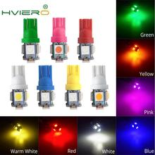 цена на 7X White Red 5SMD 5050 Auto Led Auto Lamp Wedge Bulb 194 168 LED color Side Dashboard License Light Lamp Auto Styling