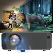 Projetor de led portátil bluetooth 1080p, home theater, hdmi, usb, cinema em casa, media player 50 60w