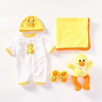 Reborn Baby Doll Girls Clothes 55 Cm For 20-23 Inch Newborn Reborn Dolls Boy Clothing Outfit 5 Pieces Set Baby Doll Accessories warkings reborn