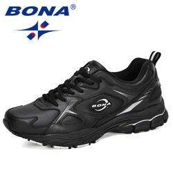 BONA 2020 Neue Designer Action Leder Männer Schuhe Mode Lässig No-Slip Mann Vulkanisieren Schuhe Tenis Masculino Freizeit Schuhe
