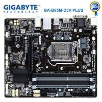 Gigabyte GA B85M D3V plus desktop placa mãe b85 soquete lga 1150 ddr3 32g micro atx sata iii original remodelado mainboard|Placas-mães| |  -